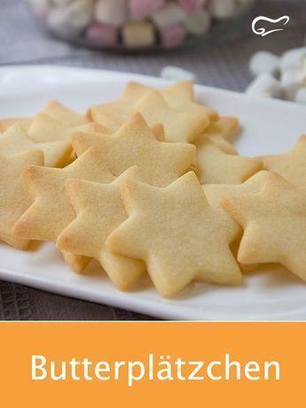 Von diesem einfachen Rezept für Butterplätzchen werden sowohl Klein als auch Groß begeistert sein. #butterplätzchen #plätzchen #rezept #backen #weihnachten #gutekueche