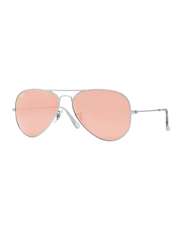 b70bb270946b1 Aviator Mirrored Sunglasses, Brown Pink - Ray-Ban    Clothing ...