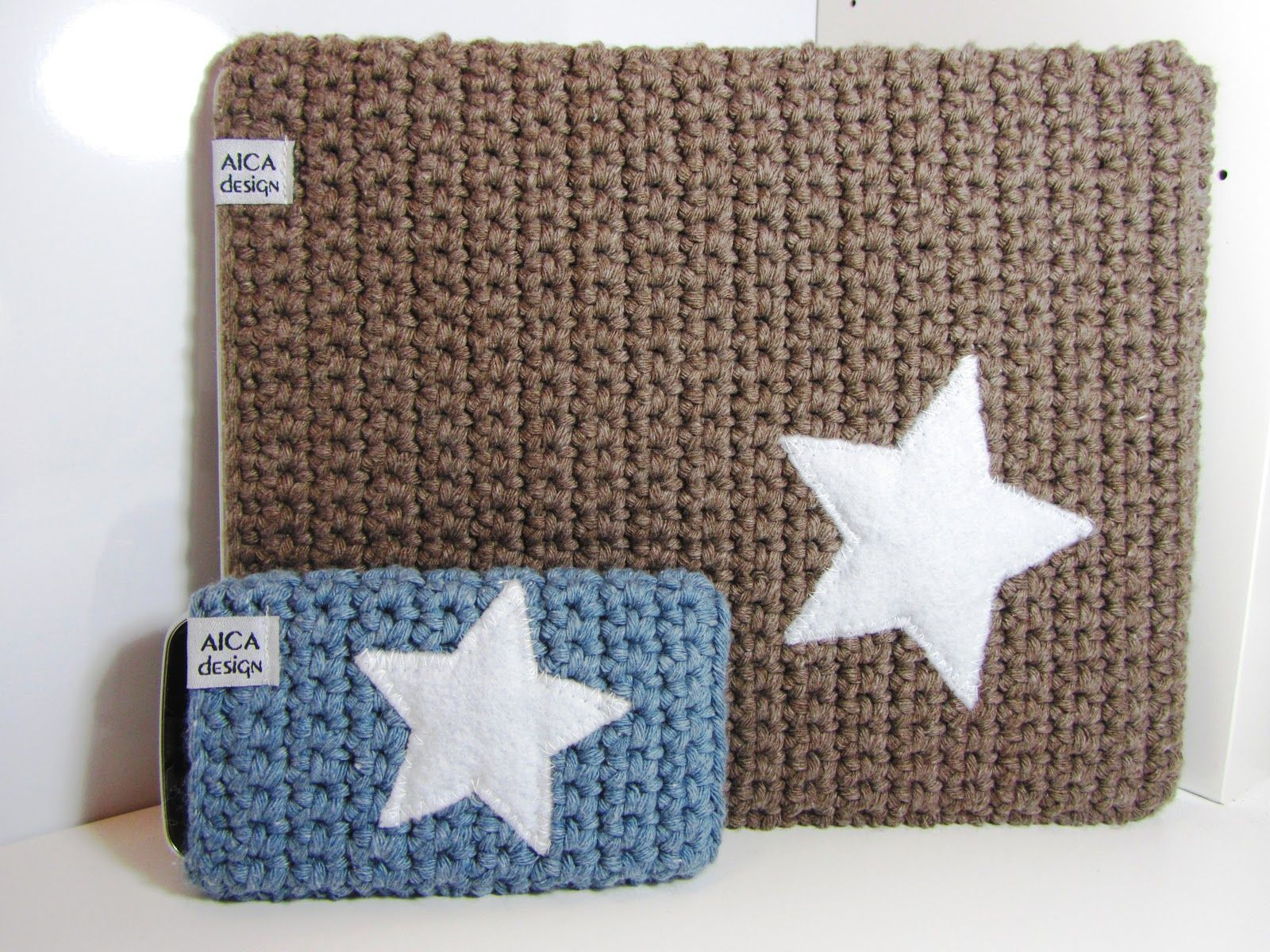 Crocheted iPad and iPhone sleeves | stars addict | Pinterest ...