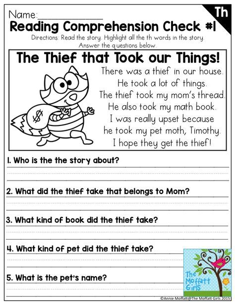 Reading Comprehension With Digraphs Digraphs Can Be Tricky For Beginning An Reading Comprehension Worksheets First Grade Reading Comprehension Phonics Reading Worksheet for struggling readers