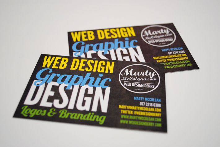 Business card design marty mccolgan business cards graphic business card design marty mccolgan business cards graphic design derry colourmoves