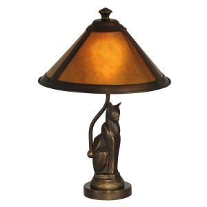 Dale Tiffany 17 In Ginger Mica Antique Bronze Accent Lamp Ta90197 Cat Lamp Accent Lamp Tiffany Table Lamps