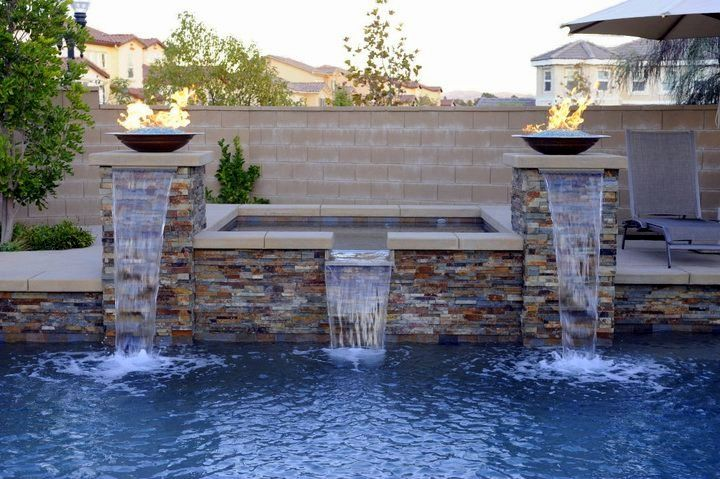 Gas Fire Bowls Pool Landscaping Water