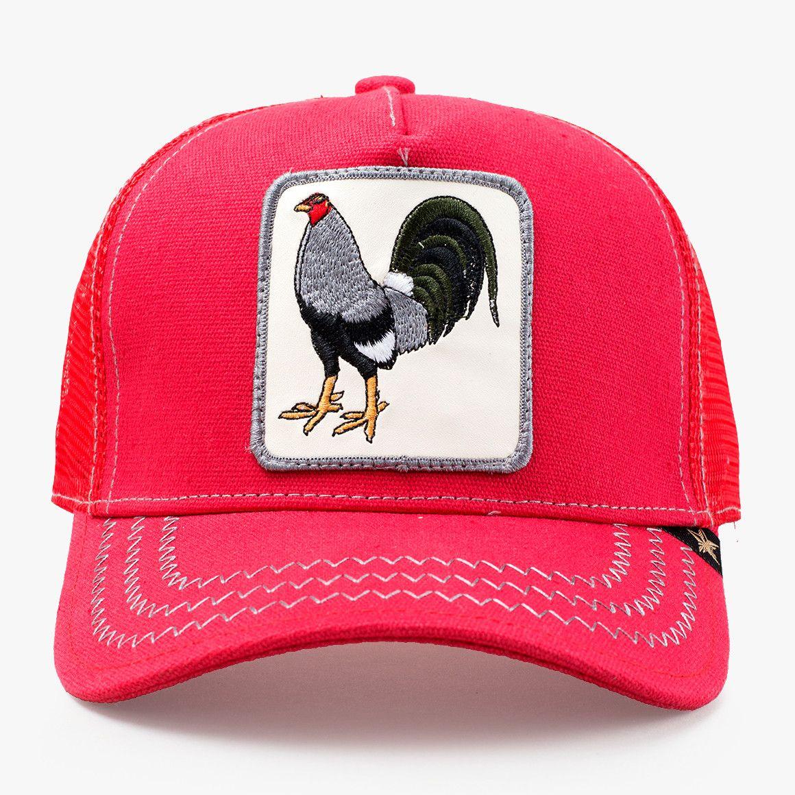 e20220dd51a477 Cock Fighting Grey & Red Trucker Hat | PIC di 2019