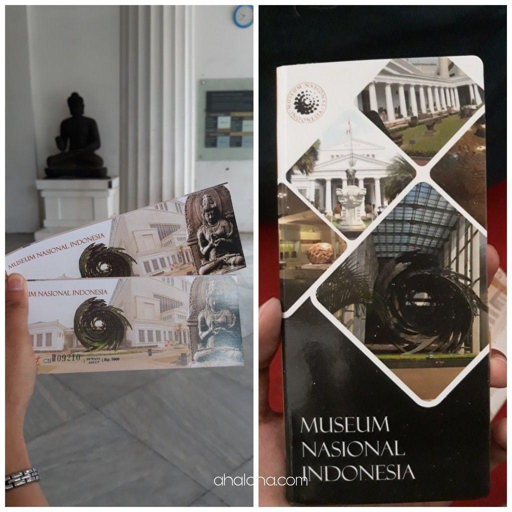 tiket masuk & leaflet museum nasional