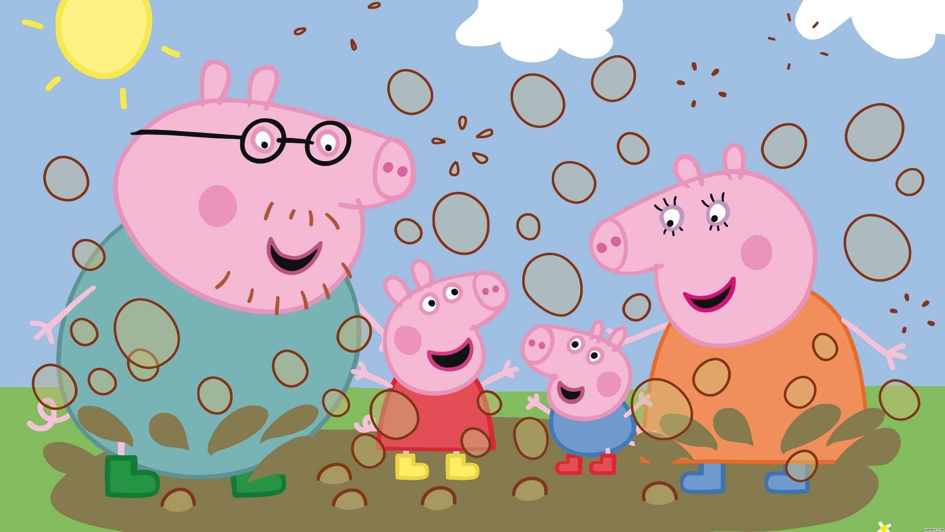 La imagen se está cargando Peppa-Pig-Princesa-Wallpaper-Mural-2-44m-X-