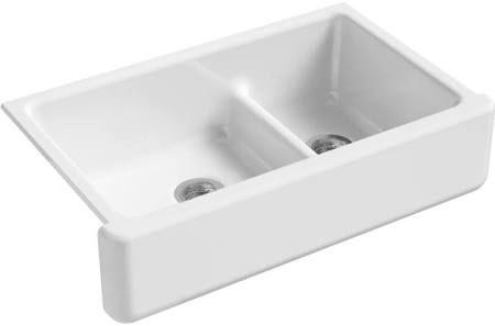 18++ White enamel farmhouse sink info