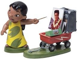 WDCC Disney Classics Lilo And Stitch Lilo And Wagon Elvis Presley Was A Model Citizen From The Disney Movie Lilo And Stitch #liloandstitch