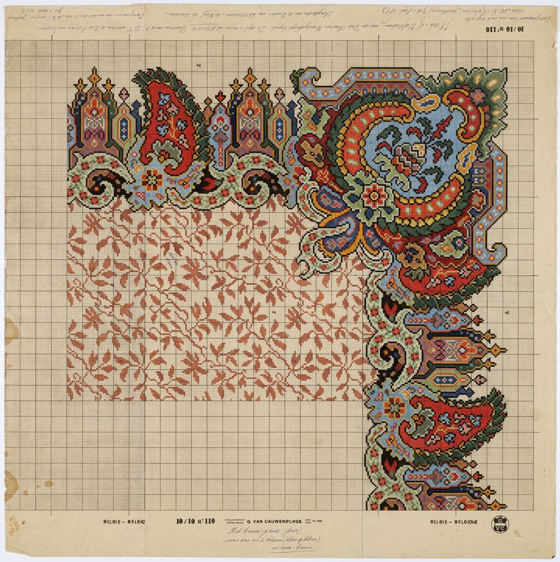 Beau Drawing Pattern After A Carpet Design From 1850 1860 By M.D. Renssen, 1905 /