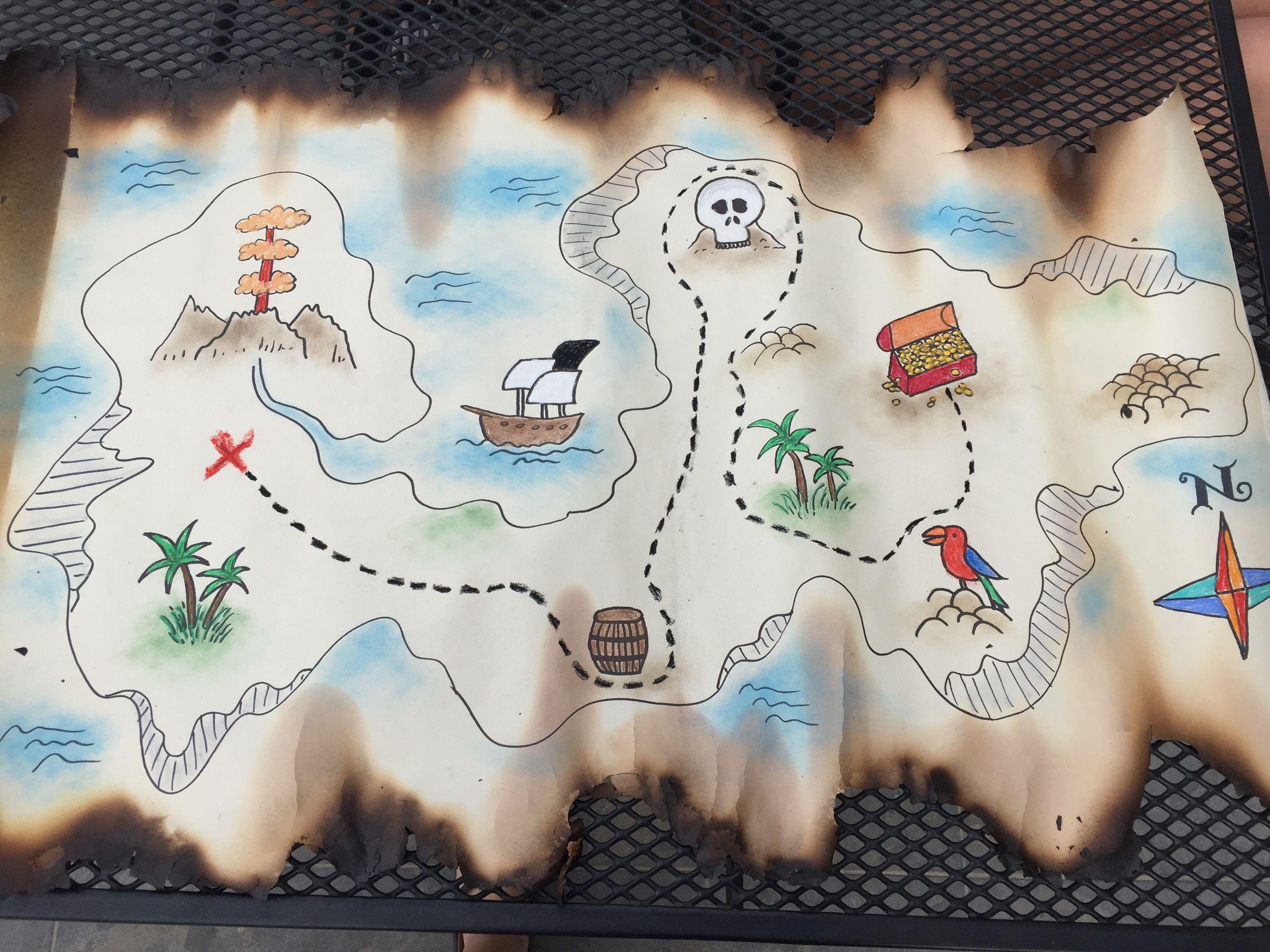 Piraten Schatkaart Thema Piraten T