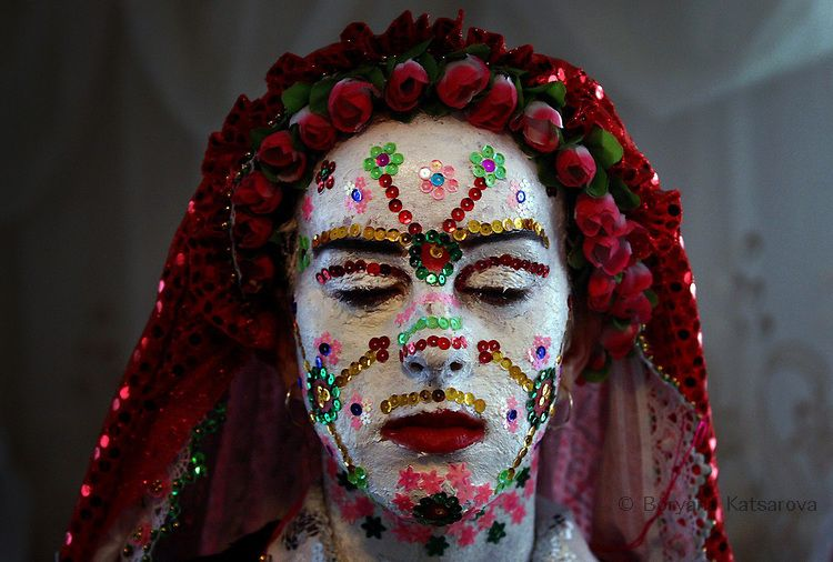 A Bulgarian bride from the Pomak minority (ethnic Bulgarian speaking Muslims), is seen during the traditional, centuries old preparation for her two-day wedding ceremony in the village of Ribnovo some 210 km from the capital Sofia on 24 January, 2010. The mountain village is famous for performing the unique wedding ceremonies in winter time only. PHOTO/BORYANA KATSAROVA