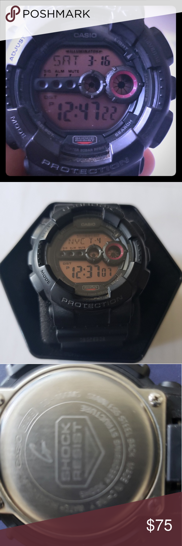 size 40 7b2b3 99f00 G-shock Casio 3263 Like new black g shock Comes with ...