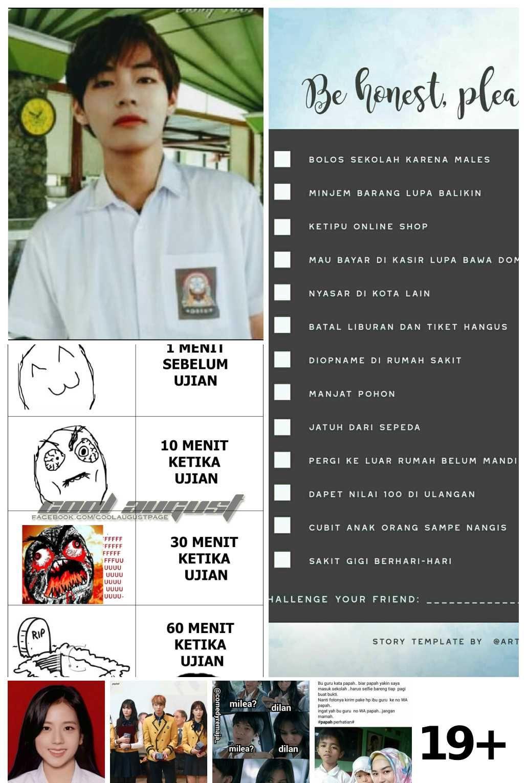 Meme Lucu Tentang Ujian Sekolah Kumpulan Gambar DP BBM