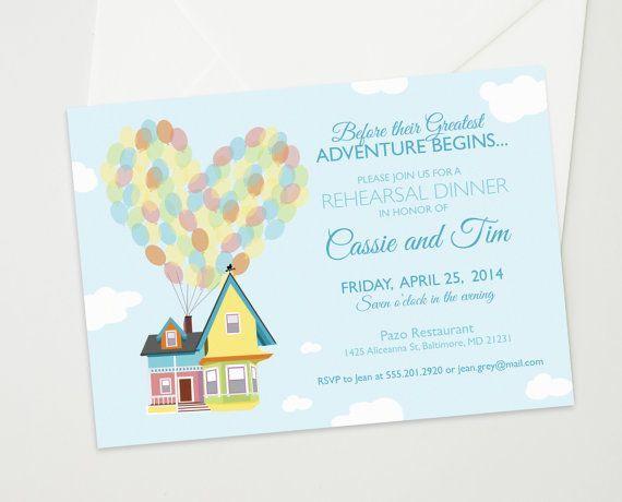 up inspired wedding invitations