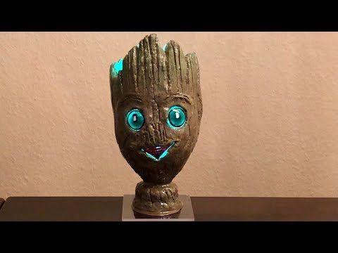 Baby Groot Lamp Diy Baby Groot Lampe Selber Bauen Youtube Moon