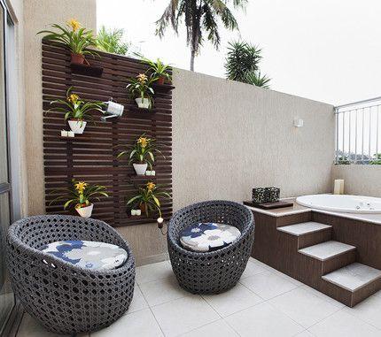 Como decorar terrazas con jacuzzi em 2019 decora o de - Jacuzzi para terrazas ...