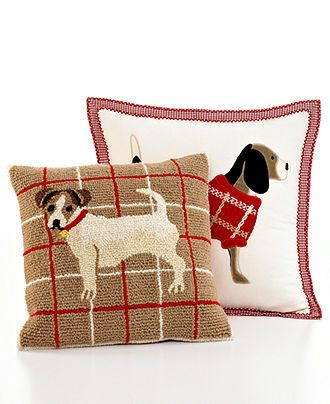Martha Stewart Collection Bedding Dogs Applique Jack Russell 40 Classy Martha Stewart Collection Bedding Dogs Decorative Pillows