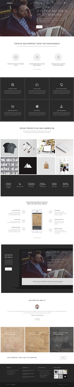 Arena Multipurpose Wordpress Theme On Behance Fun Website Design Simple Website Design Web Layout Design