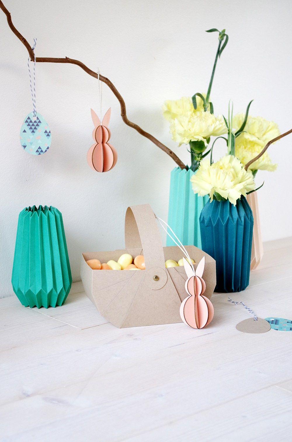 diy cache pot en origami et panier en kraft pour p ques origami pinterest origami. Black Bedroom Furniture Sets. Home Design Ideas