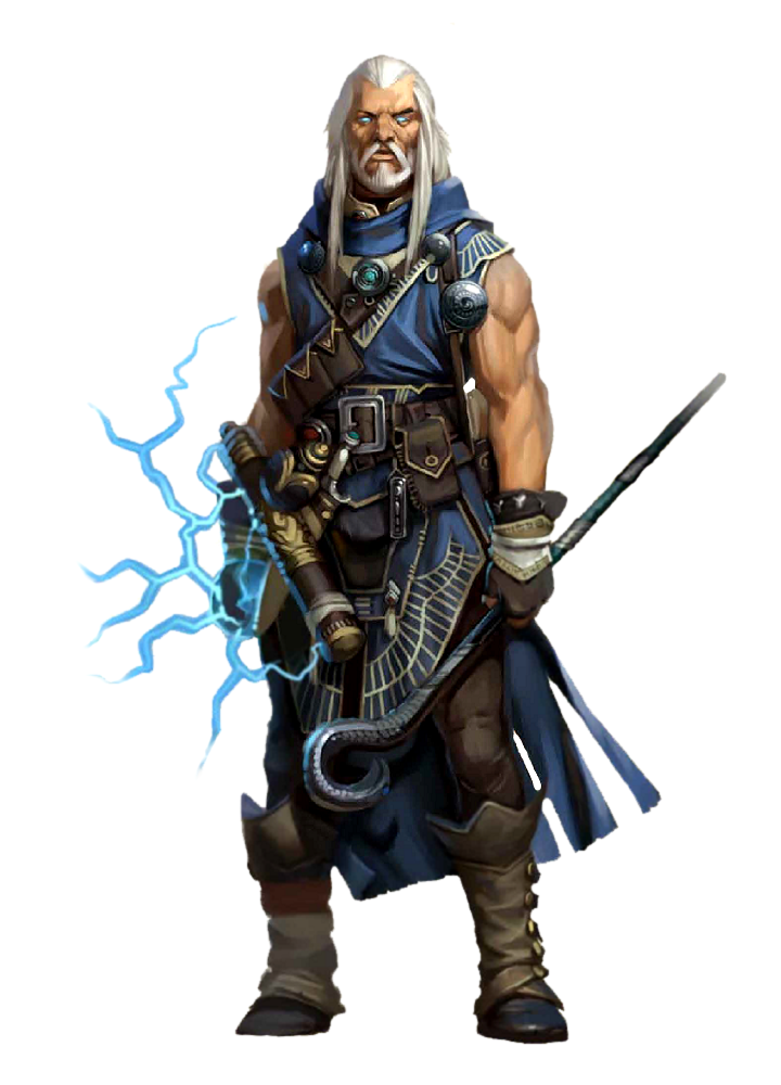 Male Human Muscle Wizard - Pathfinder PFRPG DND D&D 3 5 5E 5th ed