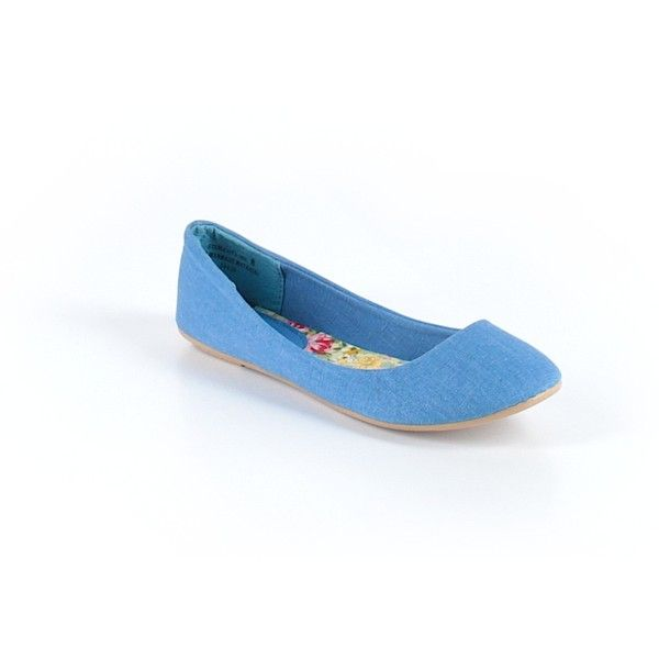 Pre-owned Bamboo Flats Size 6: Blue Women's Shoes ($21) ❤ liked on Polyvore featuring shoes, flats, blue, blue flat shoes, blue shoes, pre owned shoes, blue flats and bamboo footwear