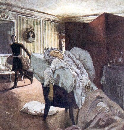 А.Бенуа «Пушкин «Пиковая дама» - Смерть графини» 1910 | Benois ...