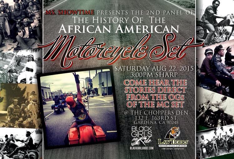 Ms. Showtime Presents The History of the African American Motorcycle Set, August 22, 2015
