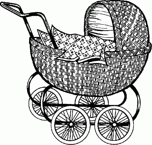 Clipart Practica Technical Baby Carriage Vintage Baby Black And White Baby