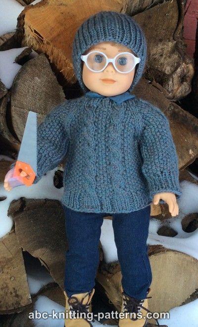 Free Doll Sweater Knitting Pattern Arl Doll Pinterest