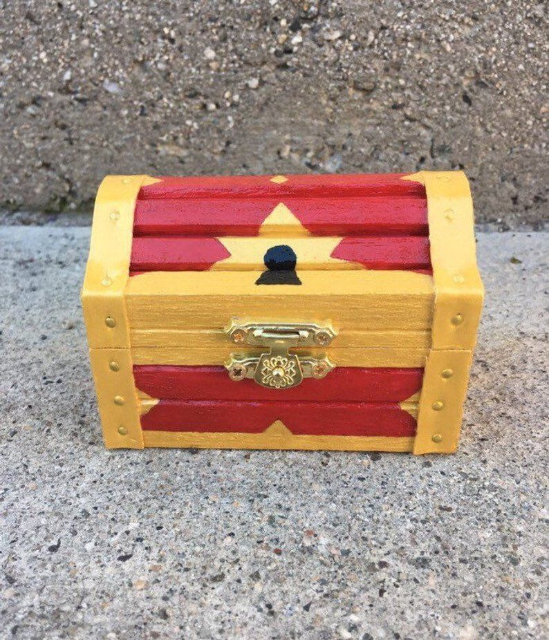 Kingdom Hearts Treasure Chest Jewelry Box Etsy Kawaii Diy Treasure Chest Treasure Boxes