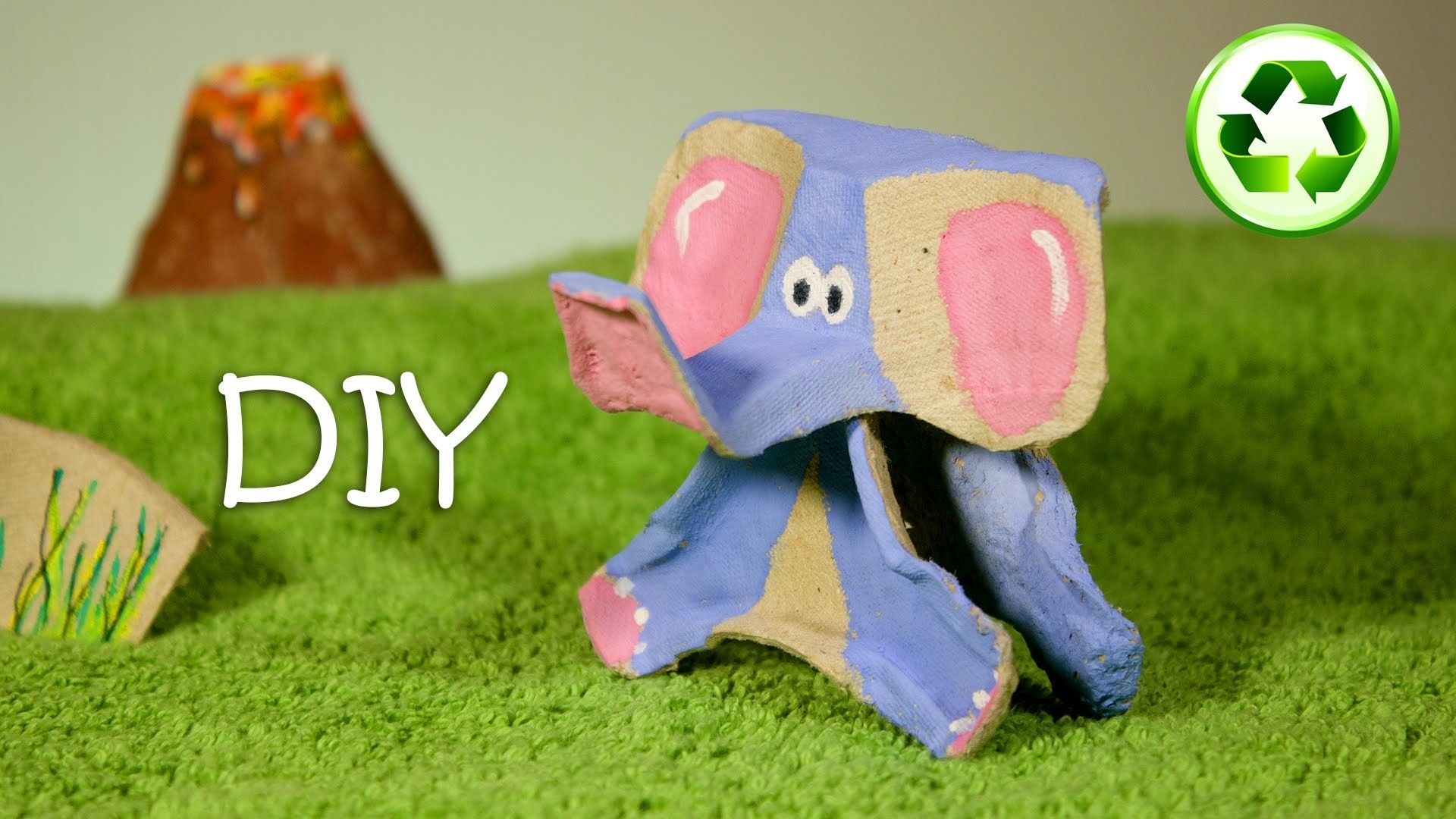 Diy elephant out of mcdonalds cardboard cup holder cup