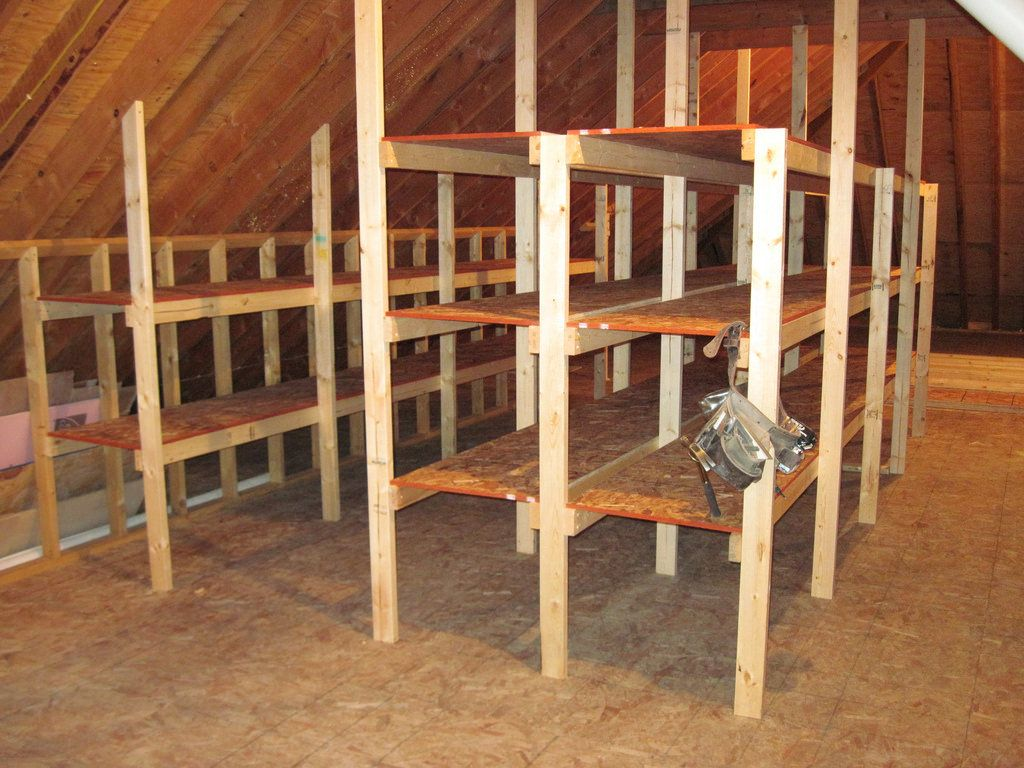 Loft Storage Attic Shelving Attic Shelving And Storage