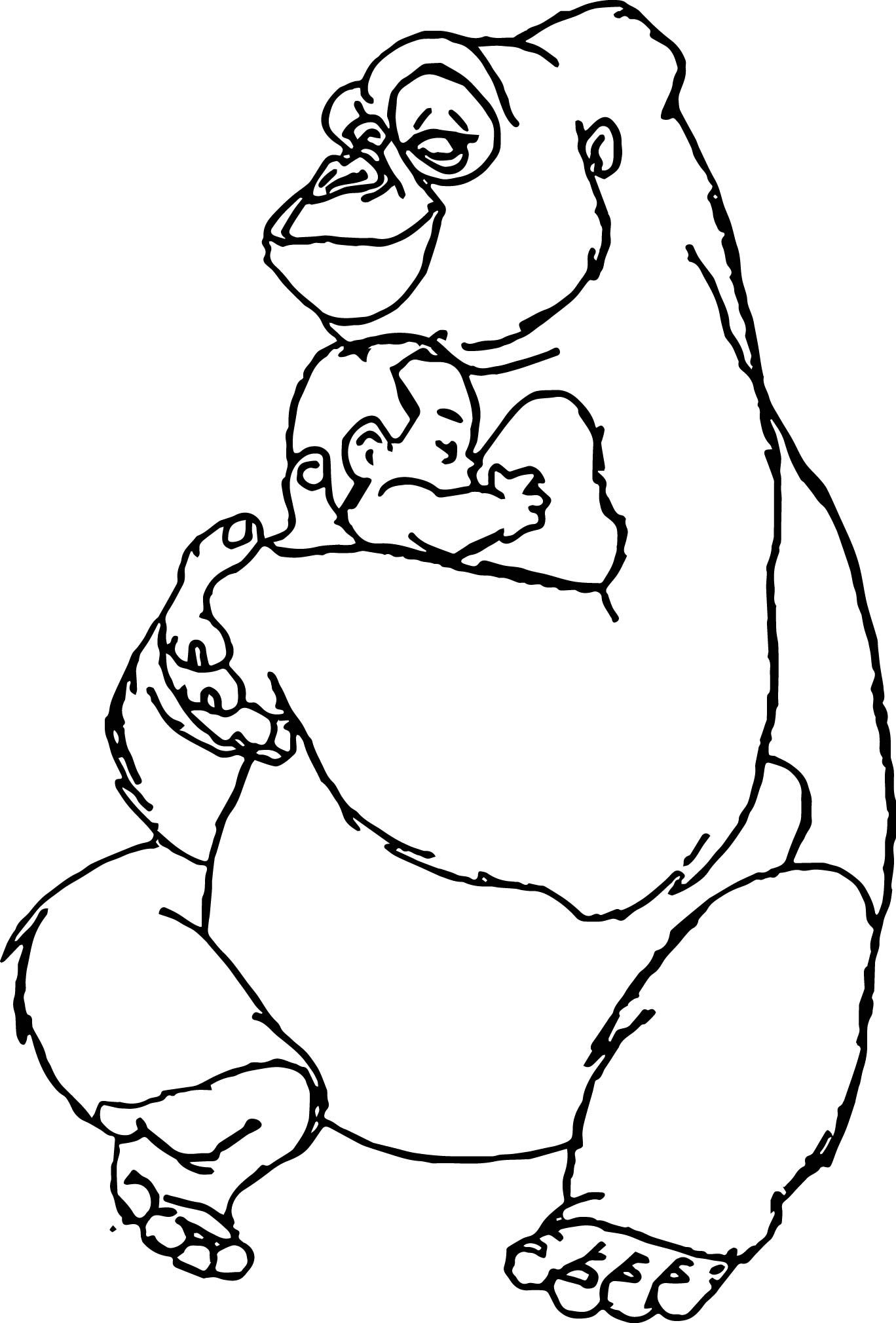 Disney Baby Tarzan Love Coloring Page | wecoloringpage | Pinterest ...