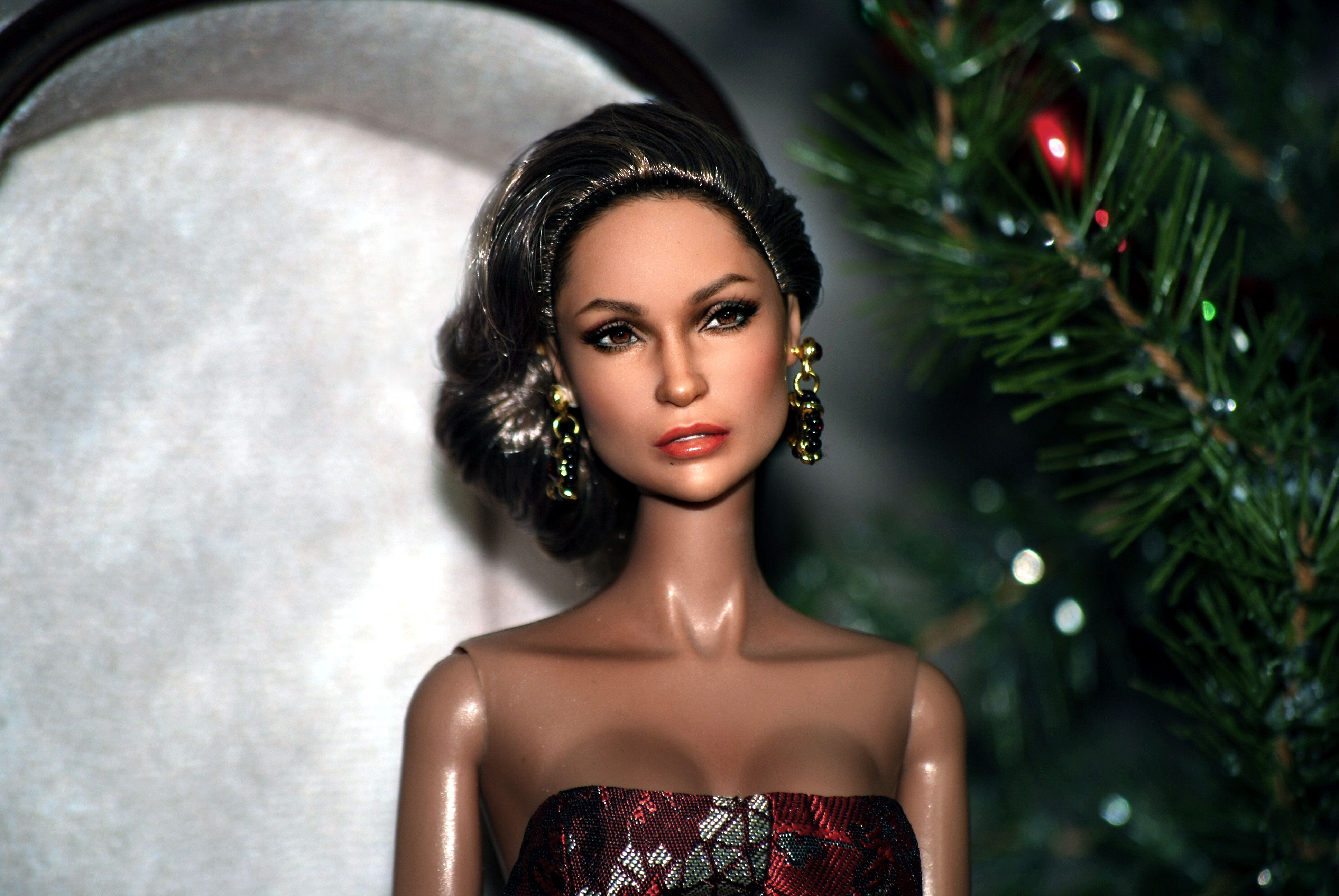 Jlo wedding dress  Christmas Eve Jennifer Lopez Red Carpet Doll as repainted and