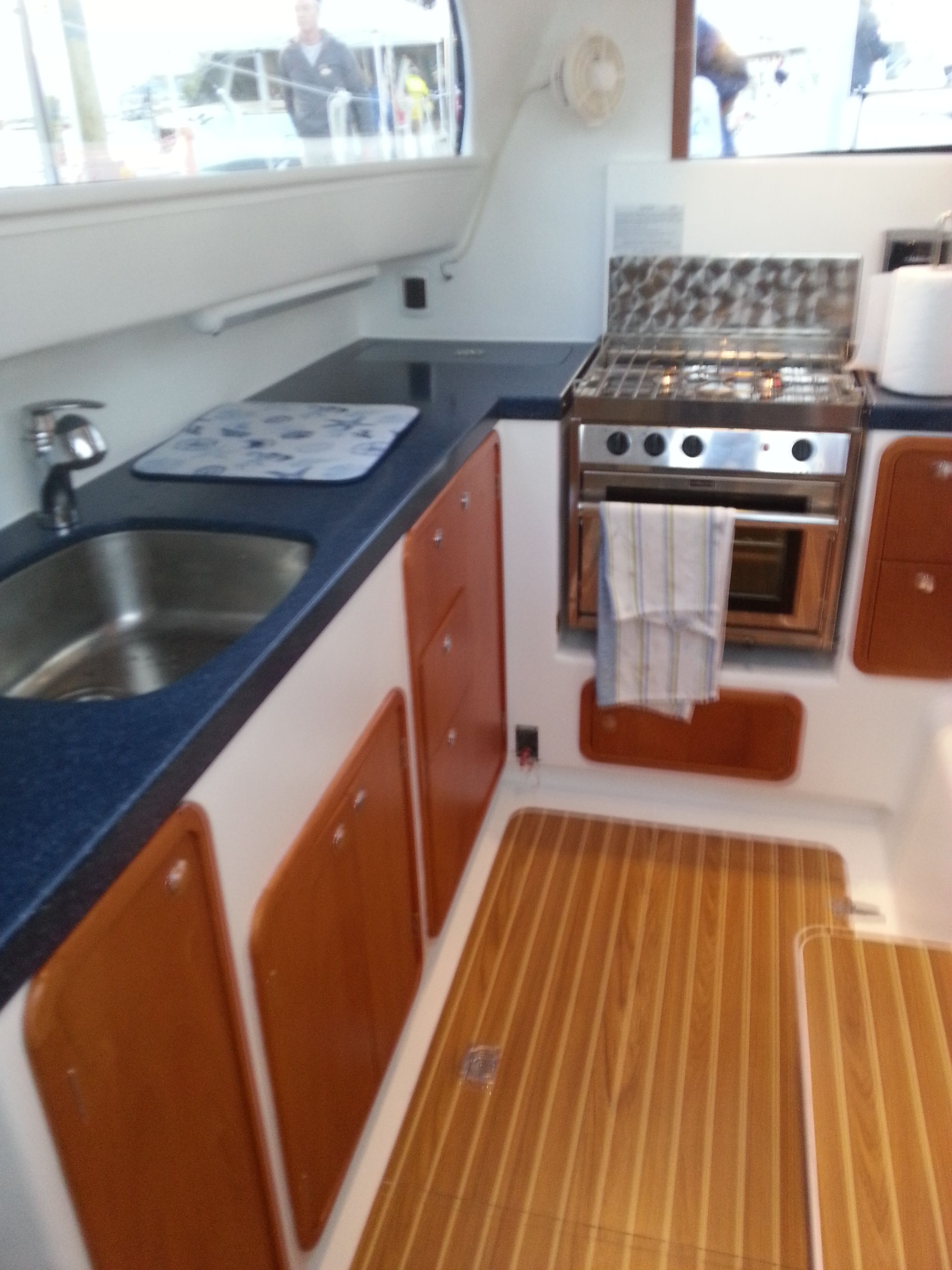 Atlantic 47 Galley Yacht Interior Galley Catamaran