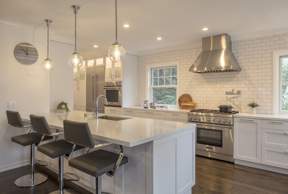 Island Countertop Extended Out No Support Modern Kitchen