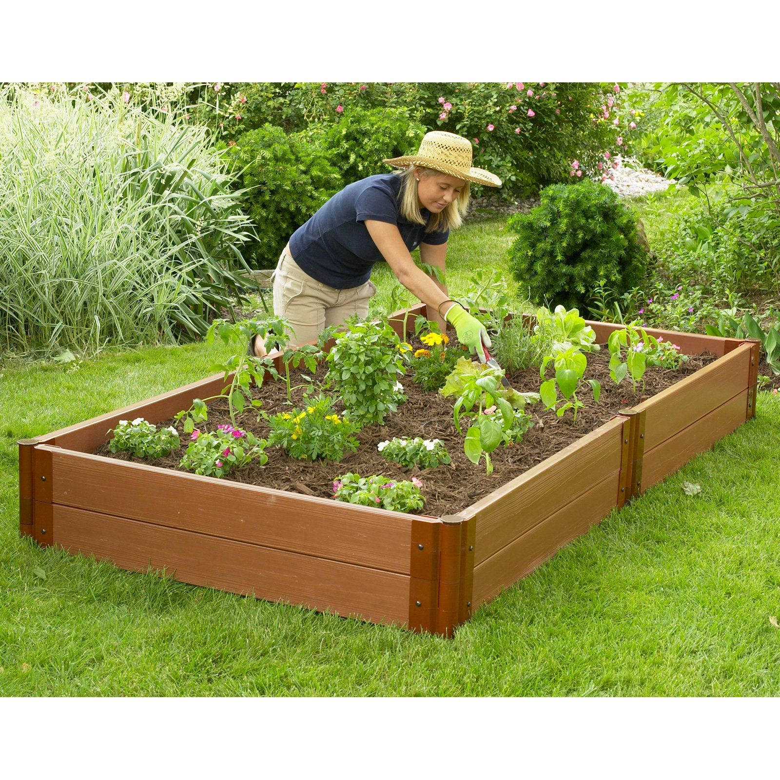 Have To Have It Frame It All 4 X 8 Recycled Resin Raised Garden Bed 12h In 259 99 Backyard Vegetable Gardens Building A Raised Garden Raised Garden Bed Kits