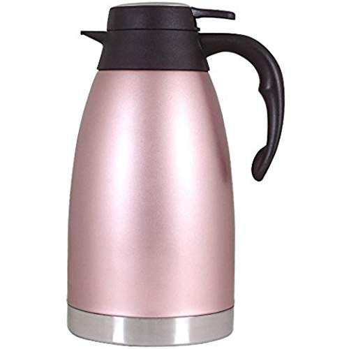 Thermal Carafe Stainless Steel Coffee Jug Double Walled Vacuum Insulated Pitcher Large Thermos Hot Tea Pot 2litre