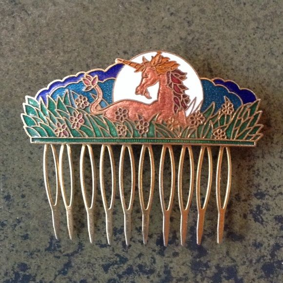 Unicorn barrette Rare vintage unicorn comb/barrette I happened upon in Louisiana. Vintage Jewelry