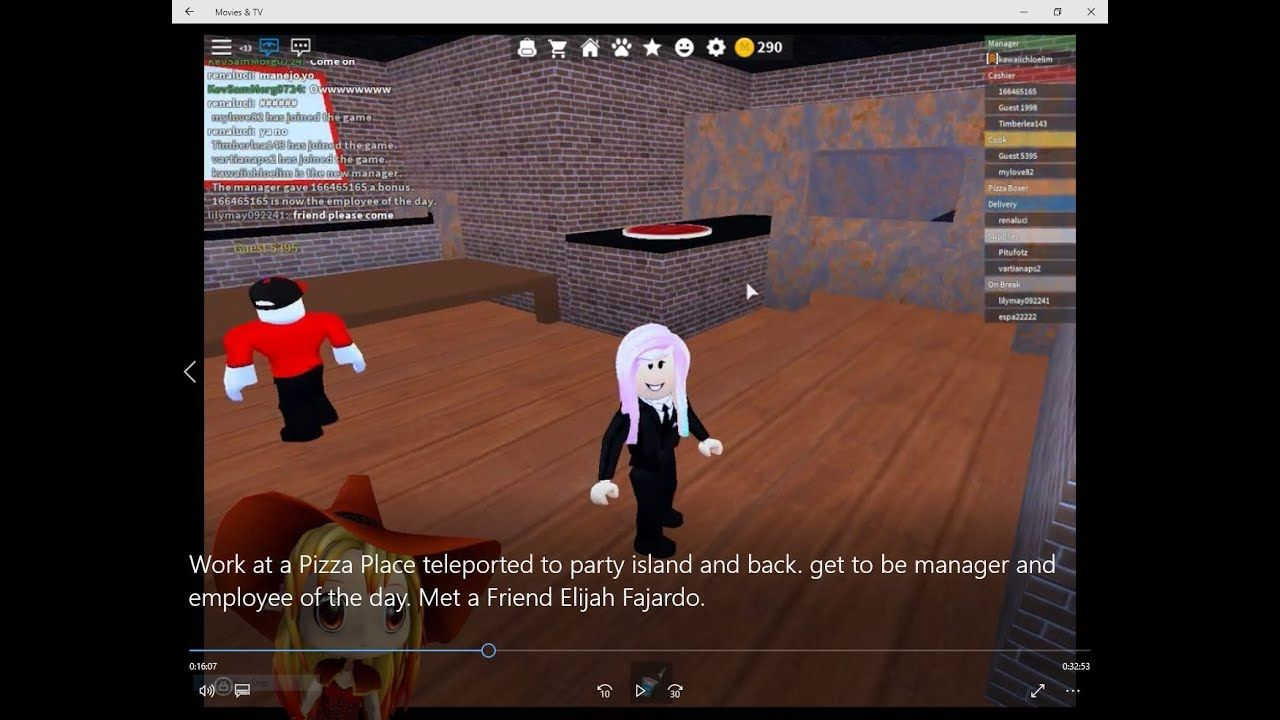 Work At A Pizza Place Teleported To Party Island Get To Be Manager And Pizza Place Employee Day How To Get