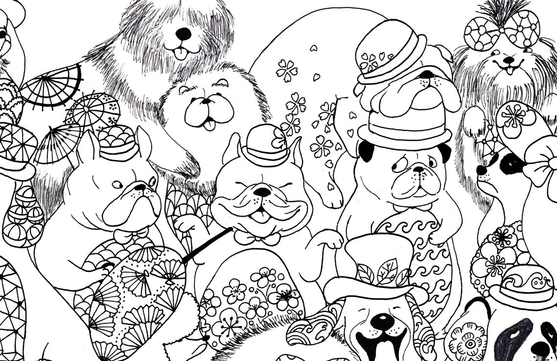A Million Dogs Fabulous Canines To Colour Free Pattern Download Whsmith Blog Free Pattern Download Free Coloring Pages Color Free