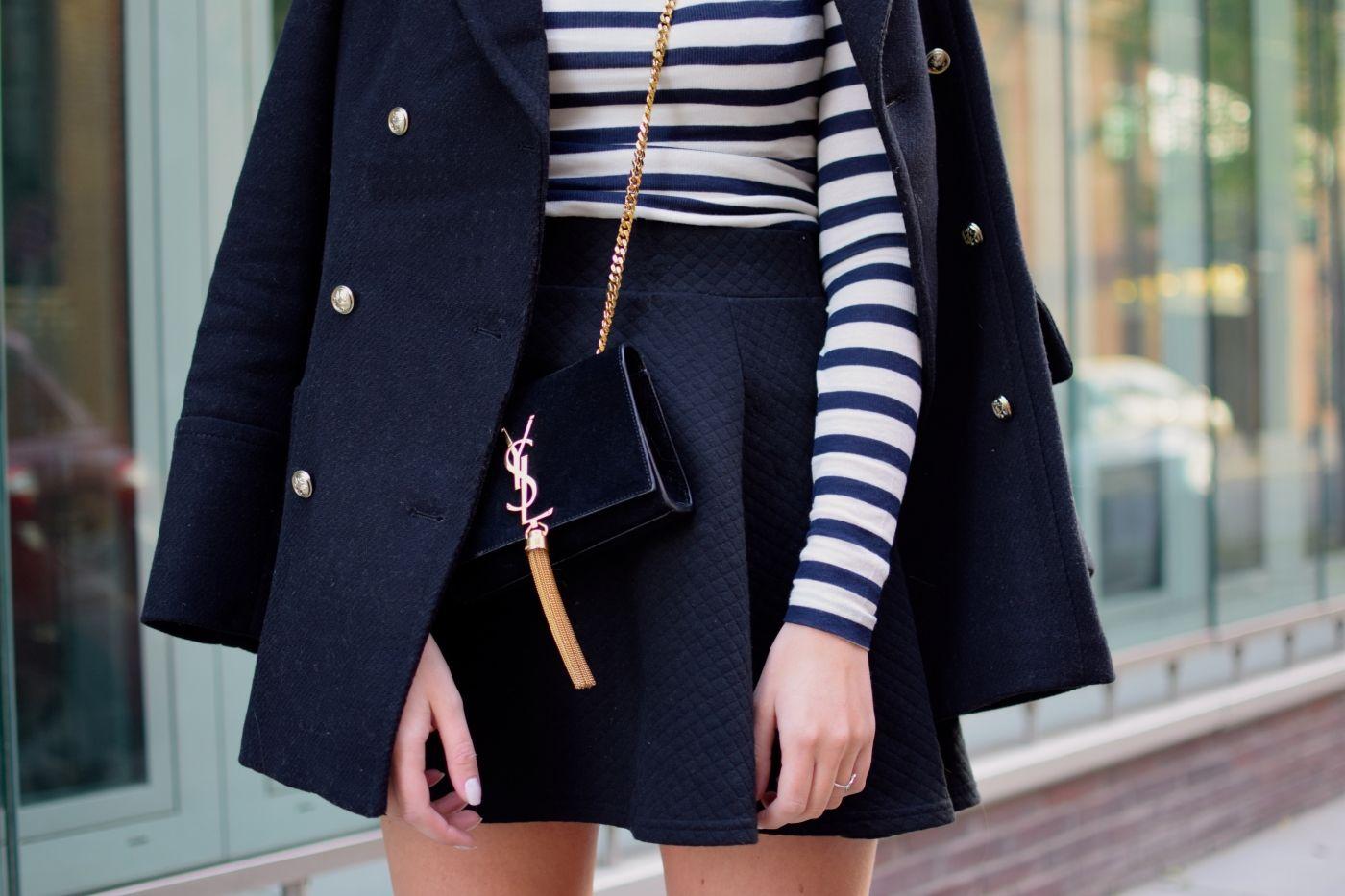 Schuhe für billige Outlet zu verkaufen lebendig und großartig im Stil Dunkelblauer Mantel mit goldenen Knöpfen von Zara | clothing ...