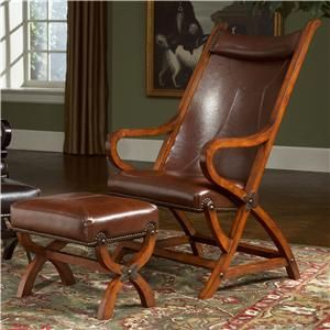 Pleasing Hunter Faux Leather Chair And Ottoman Chair And Ottoman Beatyapartments Chair Design Images Beatyapartmentscom