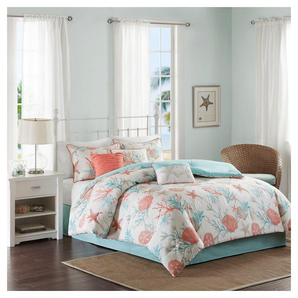 sets set queen comforter ocean design bed green bedding intelligent com dp size amazon full paisley ultra pieces aqua tasia bedroom microfiber soft