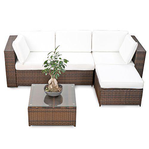 Awesome Balkon Polyrattan Lounge Ecke braun Sitzgruppe Garnitur Gartenm bel Lounge M bel Set