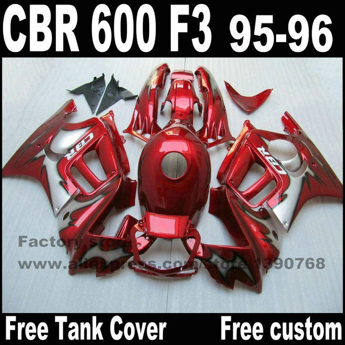 Full Fairing Parts&Tank Cover Kit For HONDA CBR 600 F3