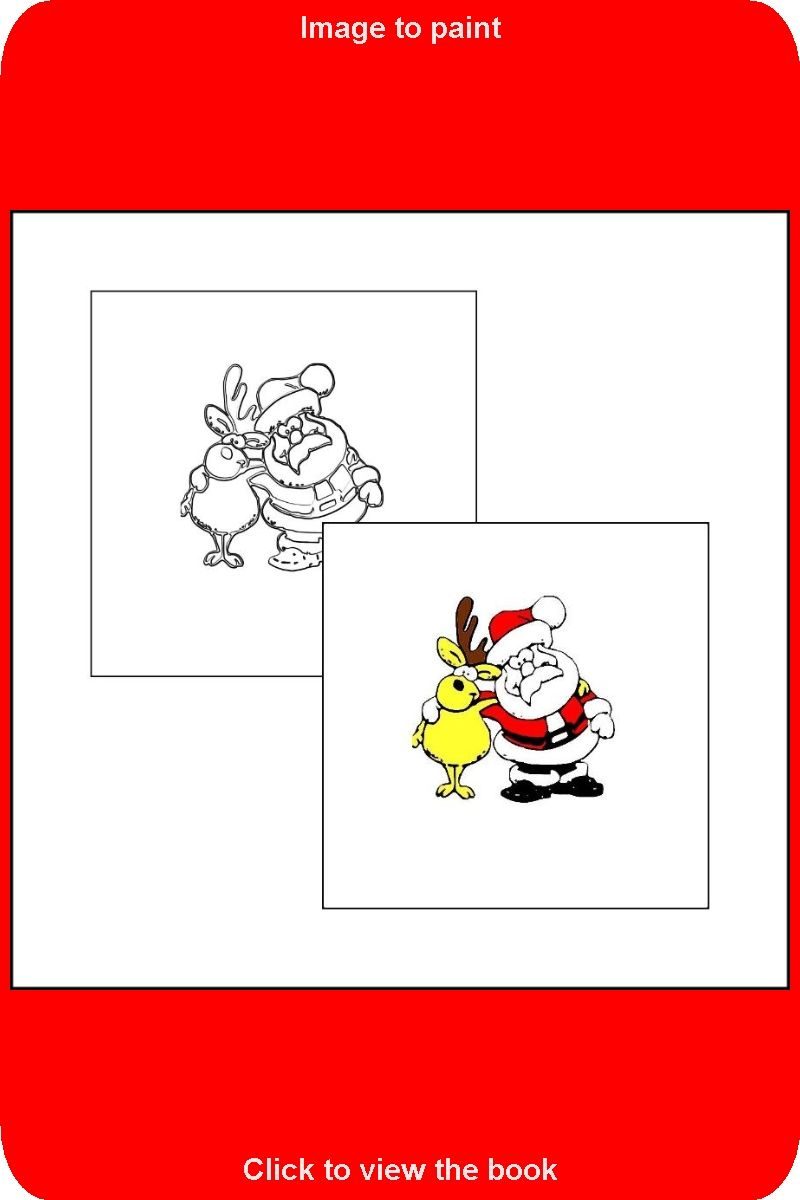 029 Sample Drawing From The Book The Coloring Book With Santa Claus Coloring Books Toddler Coloring Book Coloring Book Pages