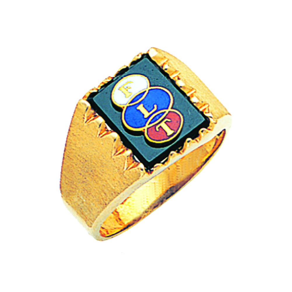 Odd Fellows Ring Open Back In 10k Gold 2 Fl60436of 10k 611 10 Fratline Emblematics Custom Fraternal In 2020 Masonic Jewelry Odd Fellows 10k Gold