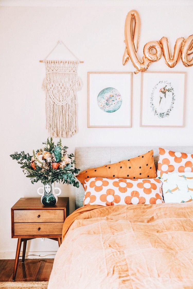 Pin On Bed Bright orange bedroom ideas