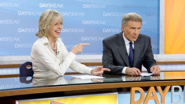 Blid Diane Keaton, sur Harrison Ford i Morning Glory. (Foto: UIP)